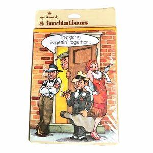 Vintage Hallmark adult friends party invitations